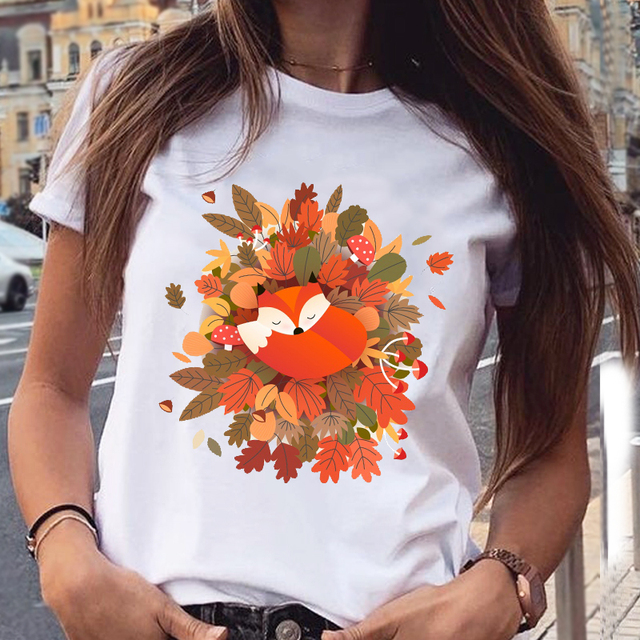 Women's Cotton T-Shirt With Kitten Print   6