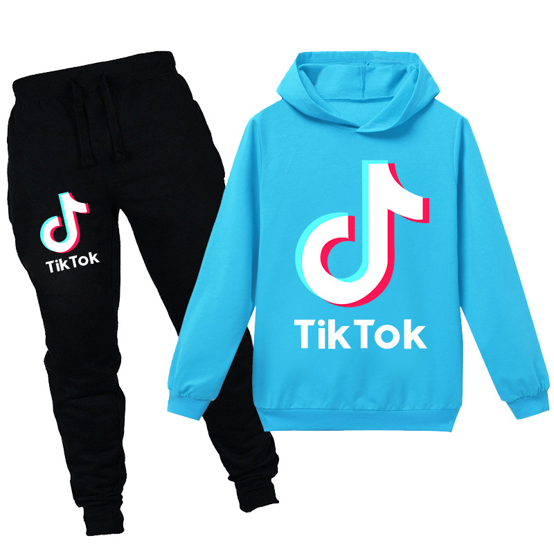 2020 New Style  Hot Selling Douyin TikTok CHILDREN'S Garment Hoodie Hoodie Suit kids clothes