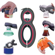 8-Shaped Gripper-Jar Opener Kitchen-Gadgets Beer 6-In-1 Can Claw