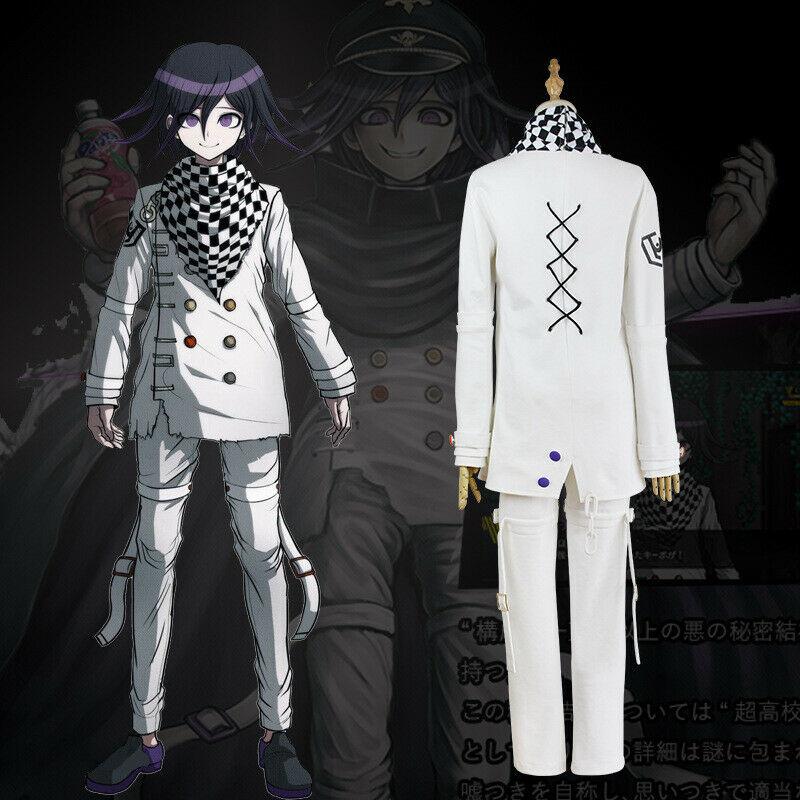 Anime cosplay uma oma kokichi danganronpa v3 matando harmonia o traje uniforme