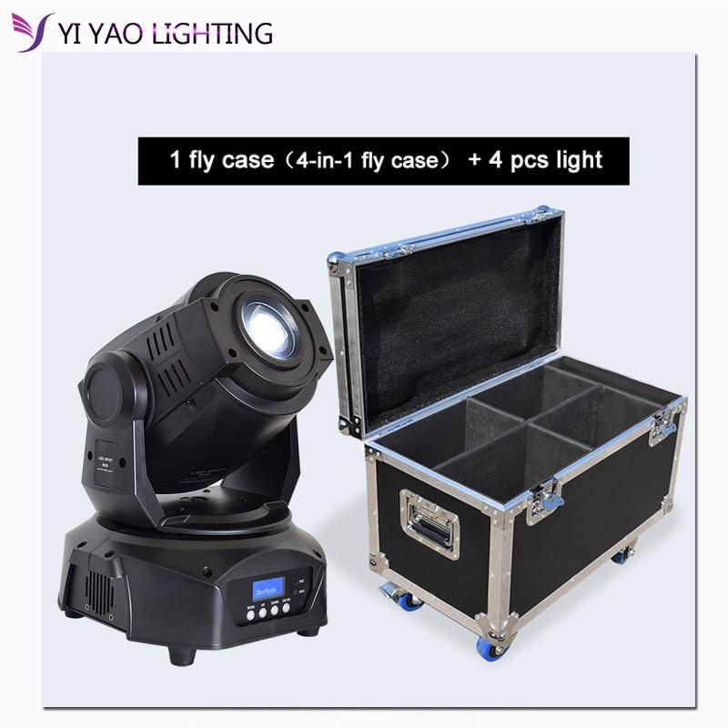 Flight Case 90w 3 facet prism LED Spot Moving Head Stage Light Disco Wedding Party DJ 4pcs/lot|Stage Lighting Effect| |  -