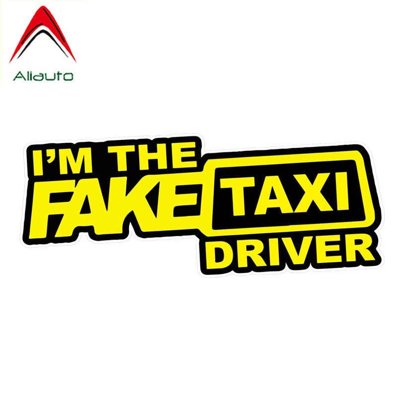 Aliauto おかしい車のステッカー私は偽タクシードライバーステッカーアクセサリーデカール PVC 起亜マツダマツダ 3 スバルゴルフ 4,16 センチメートル * 6 センチメートル