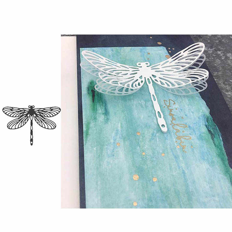 Matryce do cięcia metalu dragonfly insect die forma do wycinania papier do scrapbookingu robienie kartek papierowe rzemiosło forma do noża szablony nowy 2019