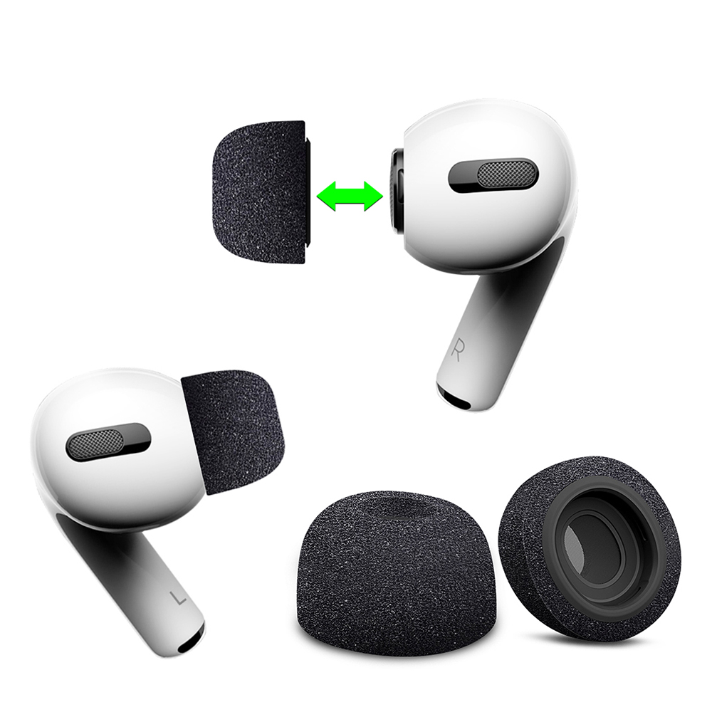 Air Sponge Silicone Memory Foam Ear Tips Buds for Apple Airpods Pro Headphones Accessories Replacement Earphone Ear Buds Earbud
