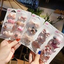 цена на Original Baby Girls Bow Flower Small Barrettes Newborn Cute Hairpins Headwear Kids Hair Clips Headband Hair Accessories