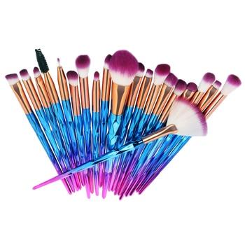New 20pcs Diamond Makeup Brush Set Powder Eyeshadow Contour Beauty Cosmetic Colorful Make Up Tools недорого