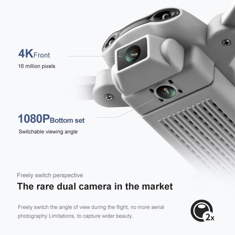 4D-V9 Nieuwe Mini Drone 4K 1080P Hd Camera Wifi Fpv Luchtdruk Hoogte Hold Grijs Opvouwbare Quadcopter Rc dron Speelgoed Kid Volwassen Geschenken 4