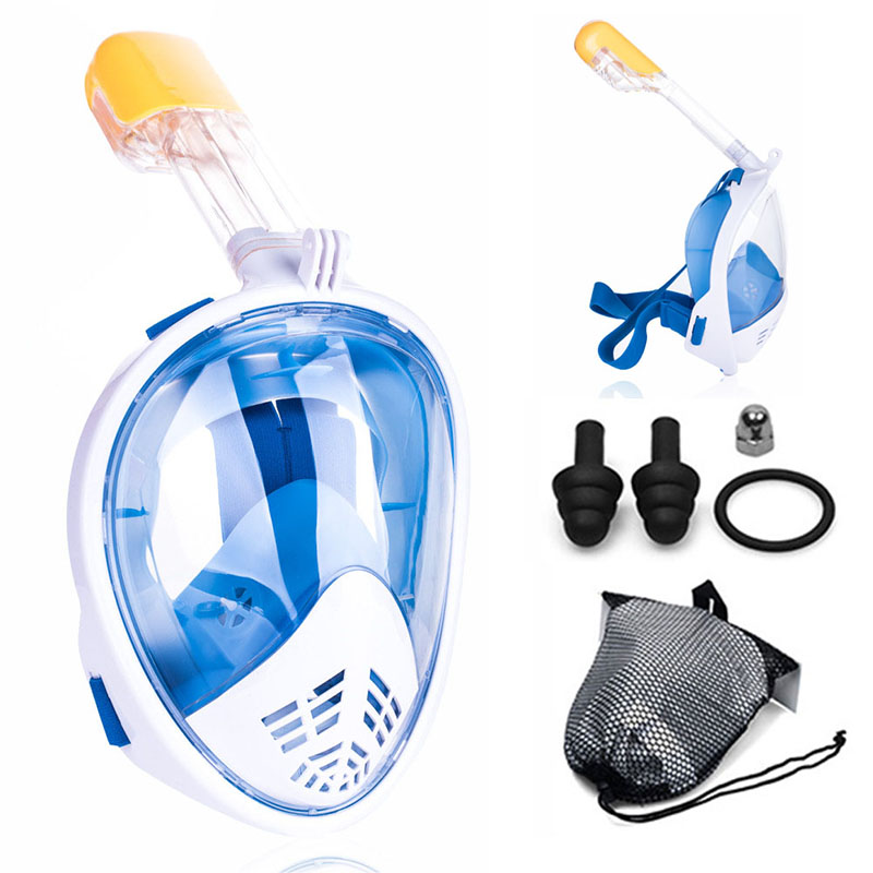 Full Face Snorkeling Mask Scuba Diving Mask For Adult & Children Underwater Spearfishing Anti Fog Skin Diving Swimming Goggles