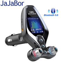 JaJaBor FM Transmitter FM Modulator Bluetooth 5.0 Carkit Handsfree AUX Audio Receiver QC3.0 Quick Charge Car Charger