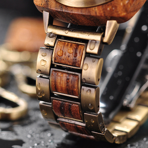 Image 4 - Bobobird 高級ゼブラウッドは女性男性ファッション腕時計時計 erkek kol saati ギフトボックス受け入れるカスタマイズロゴ L T06