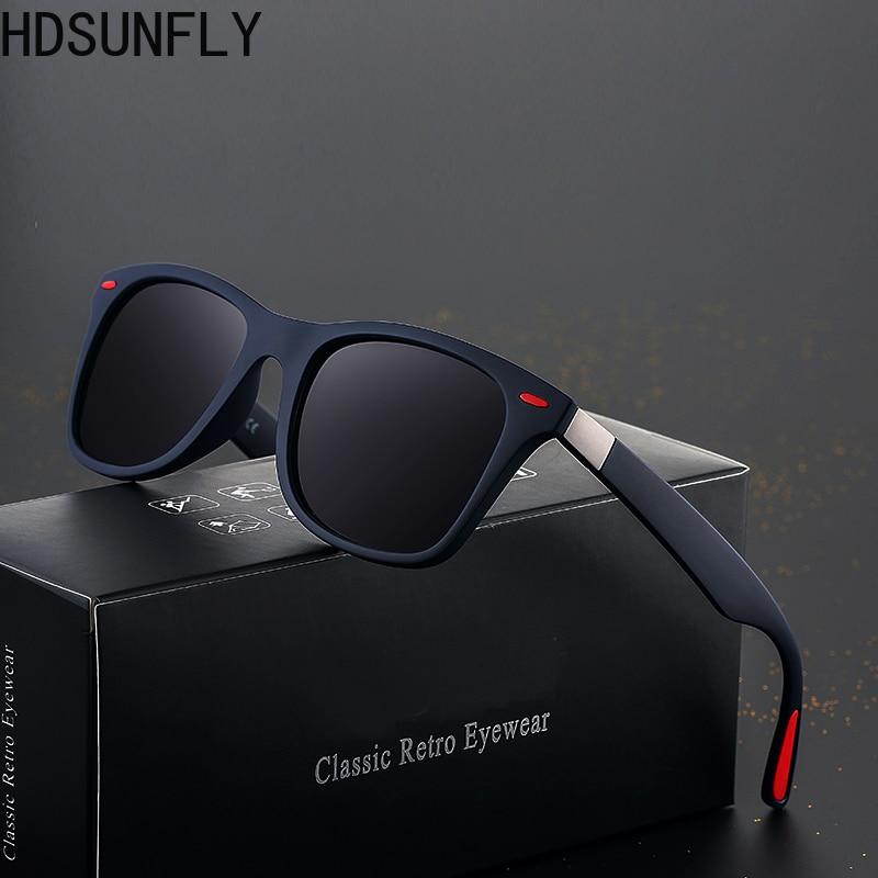 HDSUNFLY Men Polarized Sunglasses Men Women Square Brand Designer Rays Driving Sun Glasses Goggle UV400 Gafas De Sol 2020 New