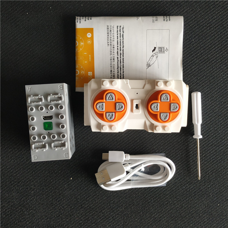 NEW Creative Phone Bluetooth Remote Control 4 Channels Lithium Battery Box Building Blocks Compatible Logoes Sbrick Buwizz Parts