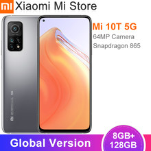 Versión Global Xiaomi Mi 10T 8GB RAM 128GB ROM 5G Smartphone Snapdragon 865 Octa Core 144Hz 64MP Cámara 6,67