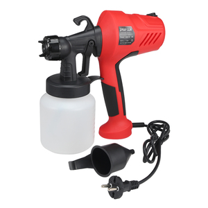 Image 5 - 400W Electric Spray Gun 800ml Adjustable Windows Walls Painting Sprayer Gun Handheld Paint Spray Gun Three Nozzle Pattern 2.5MM