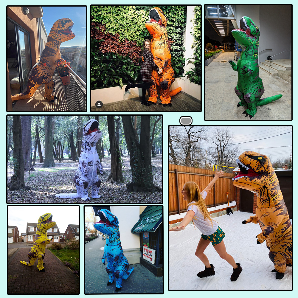 Hot T REX Dinosaur Inflatable Costume Party Cosplay Costumes Fancy Mascot Anime Halloween Costume For Adult Kids Dino Cartoon 4