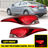 Tail Light With Bulb for Hyundai Elantra 2014 2015 2016 Tail Light Outter Side Left Right Reverse Brake Signal Light Accessories