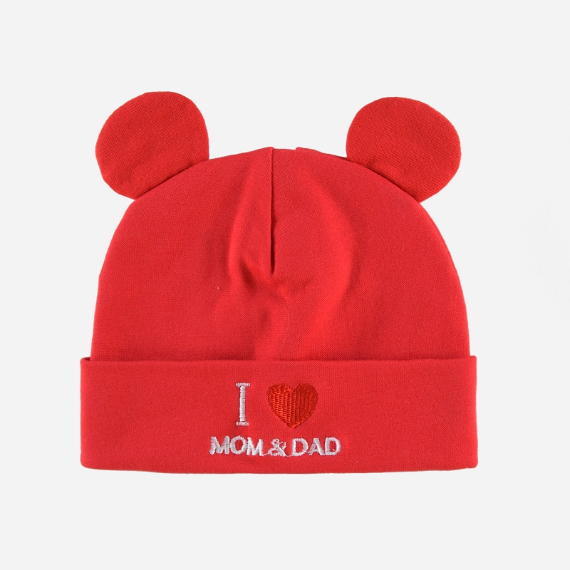Lovely Warm Baby Hat Beanie Embroidered Letter Love Daddy Mommy 0-4 Years Old Infant Knit Hat Children's Winter Hats Jumper Caps