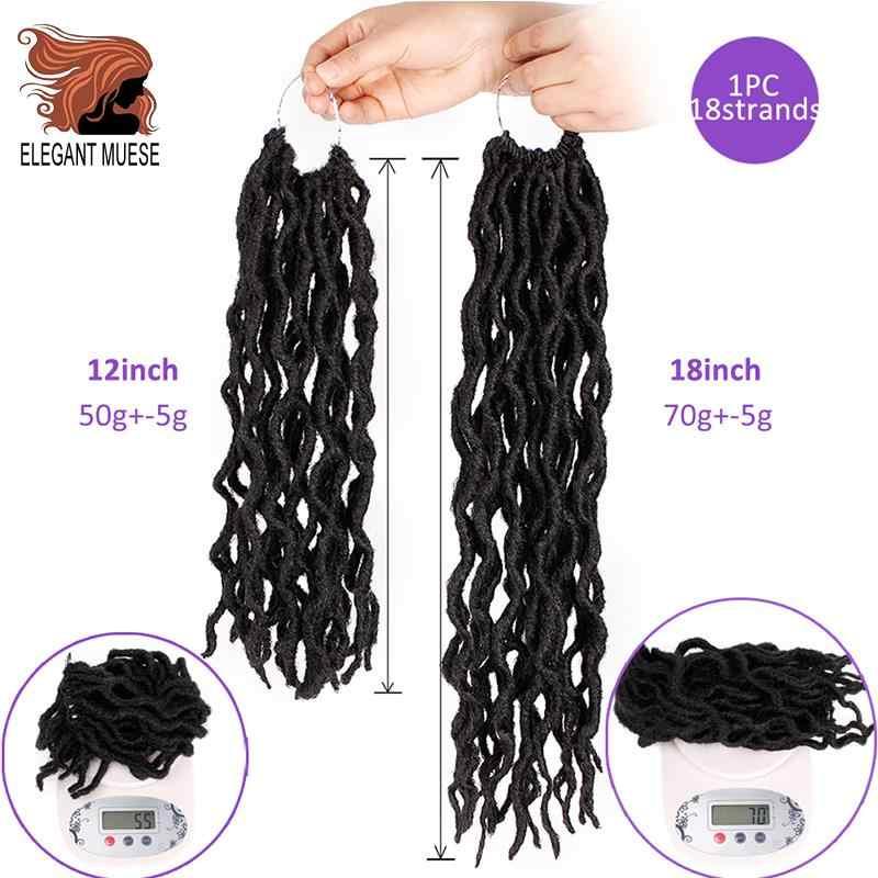 12/18 pulgadas Crochte trenzas corto Faux Locs Pelo Rizado suave pelo sintético para extensión trenzada Kanekalon cabello para cualquier mujer