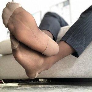Image 2 - Шелковые носки, прозрачные тонкие, сексуальные, мягкие, формальные, парадные, шелковые носки для геев