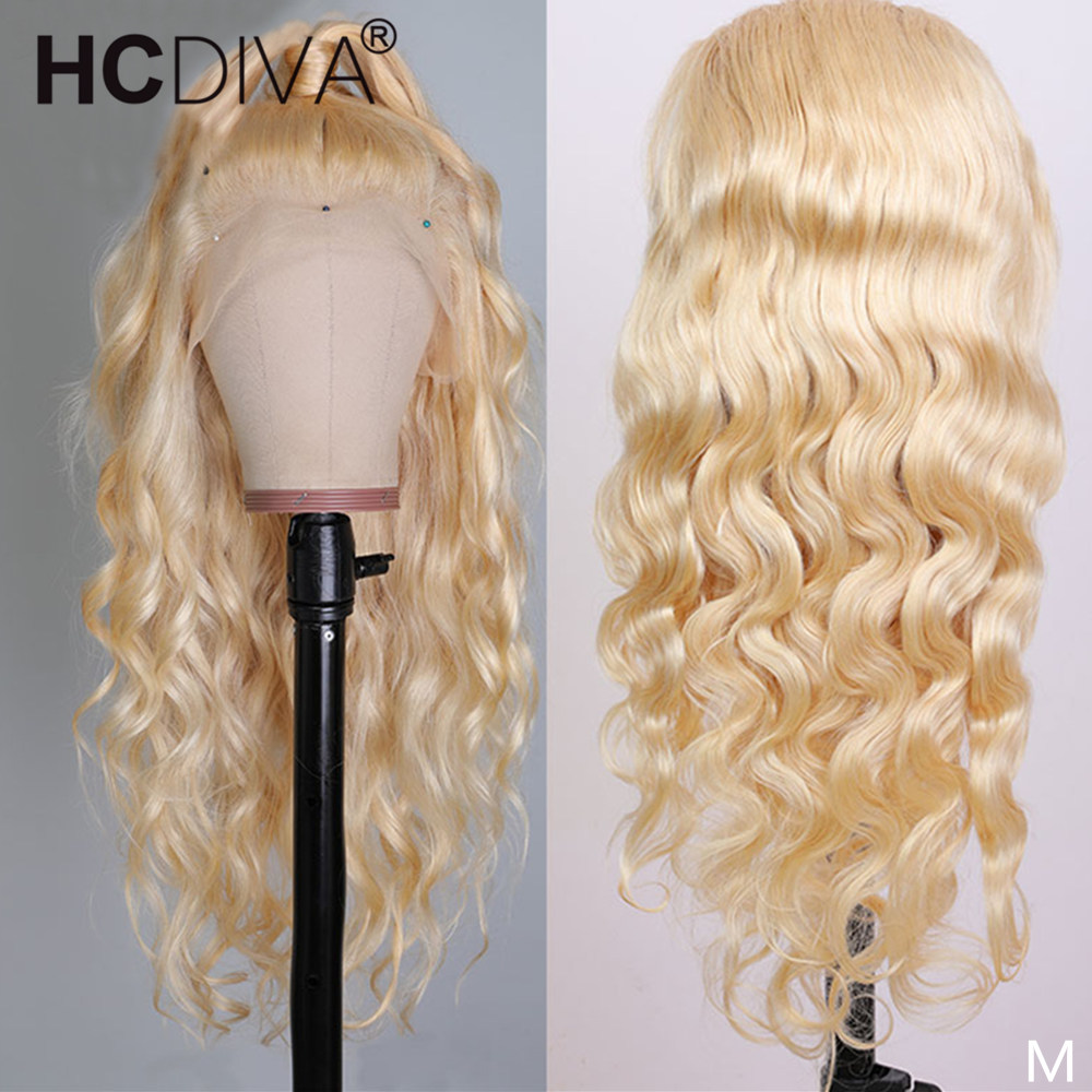 613 Lace Front Wig Transparent 13x4 Remy Blond Brazilian Body Wave Lace Front Human Hair Wigs Pre Plucked 360 Lace Frontal Wig