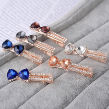 Elegant Women Shiny Crystal Hair Clips Headwear Colorful Diamond Hairpins Accessories for Girls