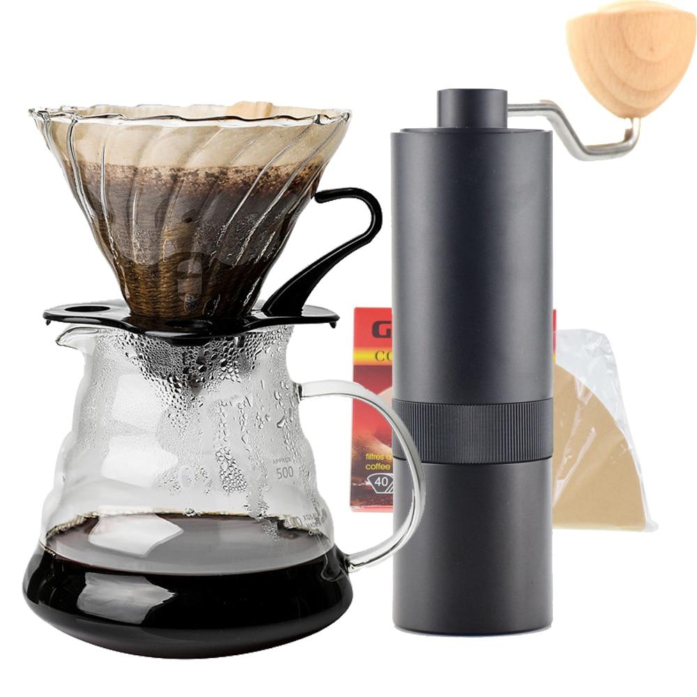 Ecocoffee Creative V60 Coffee Grinder Percolator Coffee Maker Barista Sharing Server