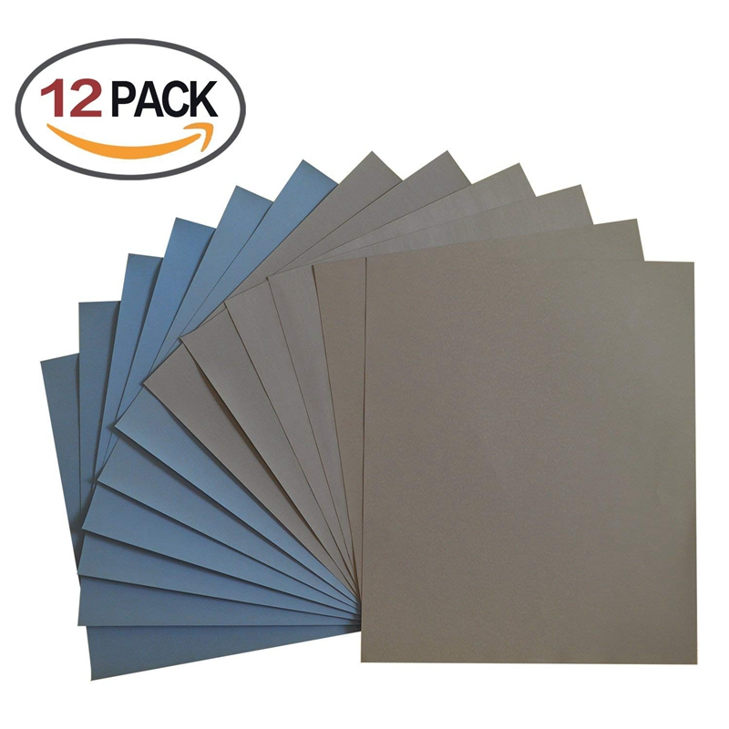 Grit 1500 2000 2500 3000 5000 7000 High Precision Polishing Sanding Wet/dry Abrasive Sandpaper Sheets - Germany, Pack Of 12