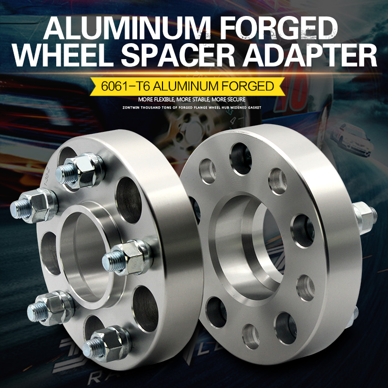 2Pieces 15/20/25/30/35/40mm PCD 5x114.3 CB: 67.1mm Aluminum Wheel Spacer Adapter 5 Lug Suit For DODGE Universal Car