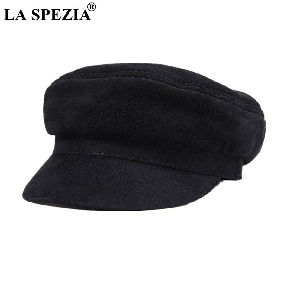 Genuine Leather Newsboy Cap Men Black Vintage Women Gatsby Caps High Quality Flat Hats Designer Brand Baker Boy Hat