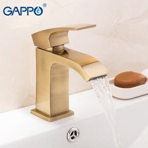 Image 5 - Gappo流域水栓真鍮浴室の洗面台のシンクミキサー水タップ洗面シンク蛇口滝風呂ミキサータップtorneira griferia