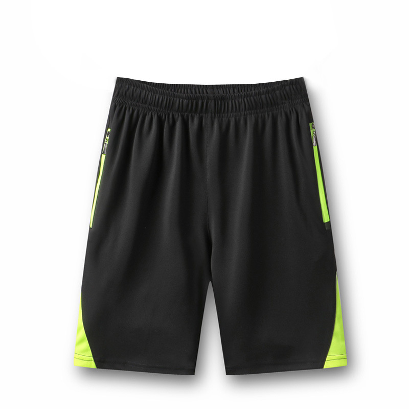 Summer Sports Shorts Men's Loose And Plus-sized Knit Straight-Cut Casual Pants Elasticity Quick-Dry Shorts Fashion
