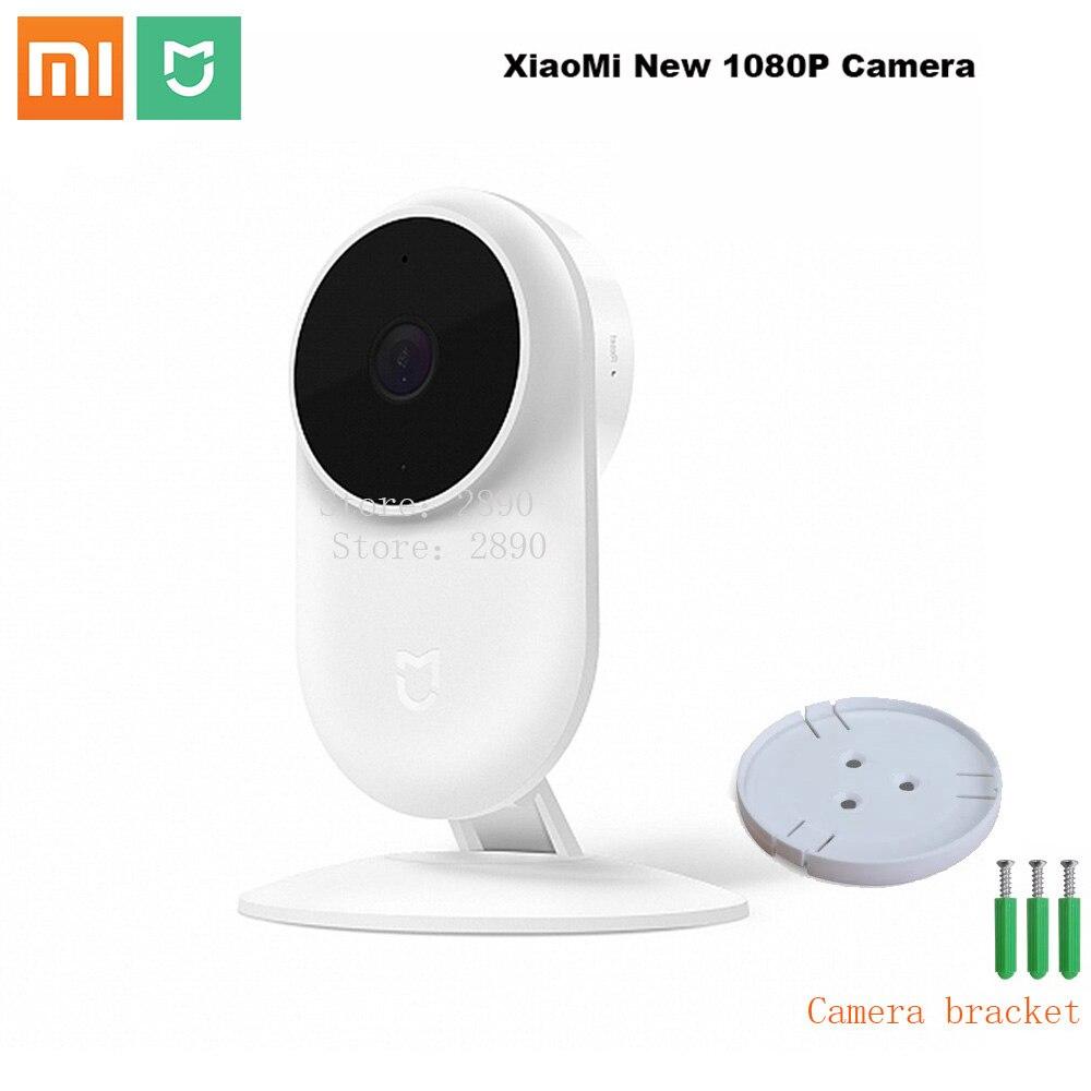 Original xiaomi mijia novo 1080 p câmera ip 130 graus fov visão noturna 2.4 ghz duplo-band wifi xiaomi casa kit monitor de segurança
