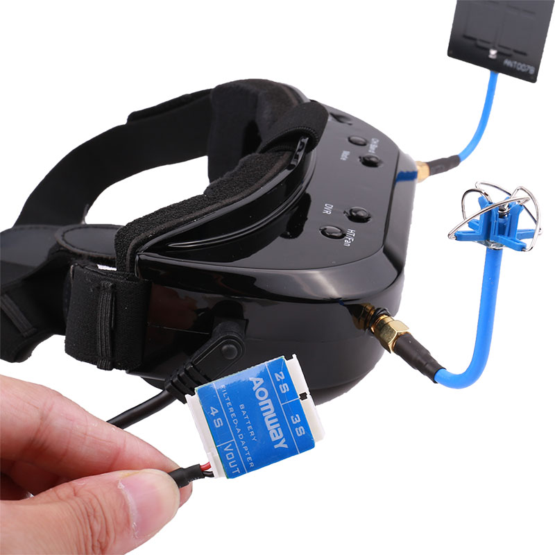 AOMWAY Commander V1S 64CH 3D Video Glasses FPV Artifact 5.8G Head wearing Myopia Available,Upgraded version of V1 - 6