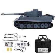 RC leopardo tanque modelo de juguete 1/16 simulación humo inalámbrico 2,4G Control remoto alemán Tigre batalla tanques 6,0
