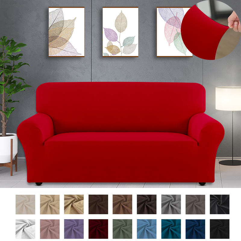 22 colors solid color Sofa Cover Sectional Elastic Stretch Sofa Cover for Living Room Couch Cover 1/2/3/4-seater