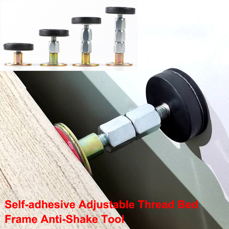 1pcs Self-adhesive Adjustable Thread Bed Frame Anti-Shake Tool Fixed Bed anti-squeaking Telescopic Support Hardware Fasteners