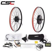 Navio da ue ru bicicleta elétrica cubo dianteiro roda do motor 36v 250w 350w 500 48v 1000w 1500w ebike kit de conversão para bicicleta 20-29in