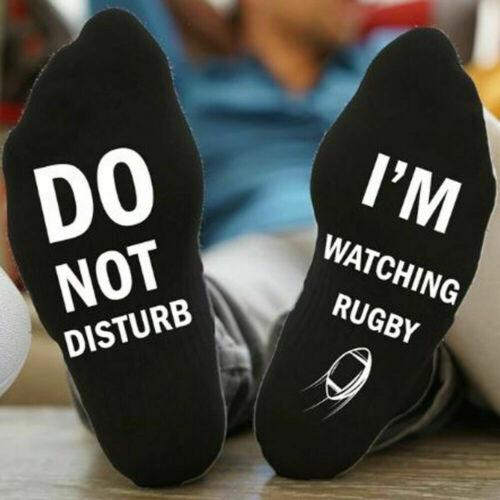 Новинка; забавные спортивные носки унисекс «Не беспокоить», «Я слежу за регби»; 1 пара; Новинка - Цвет: A