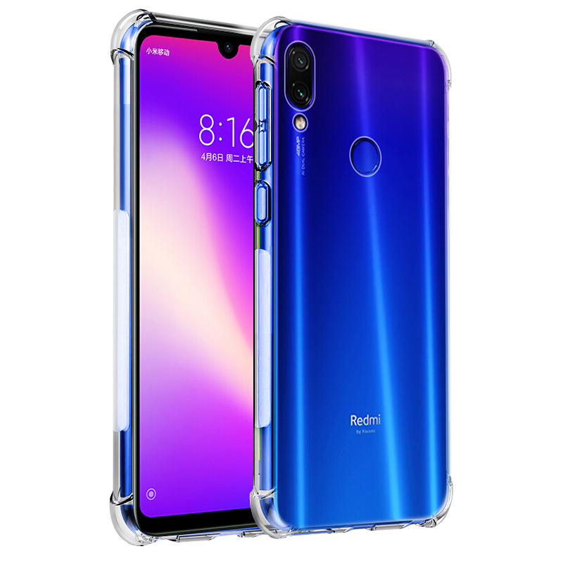Luxury Shockproof <font><b>Silicone</b></font> Phone <font><b>Case</b></font> For Xiaomi Redmi Note 7 <font><b>8</b></font> 6 5 Pro A2 A3 <font><b>lite</b></font> 7A k20 Pro <font><b>mi</b></font> 9t se <font><b>Cases</b></font> protective For <font><b>Xiomi</b></font> Redmi Note 7 Pro Transparent Protection Back Cove on Redmi Note <font><b>8</b></font> Pro image