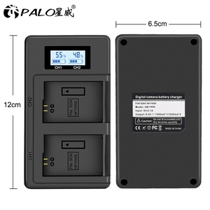Image 5 - PALO NP FW50 kamera batterie ladegerät npfw50 fw50 LCD USB Dual Ladegerät für Sony A6000 5100 a3000 a35 A55 a7s II alpha 55 alpha 7 EIN