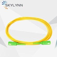 5 PCS Domestic SC/APC-SC/APC Single Mode Simplex Core Fiber Optic Patch Cord 3 Meter For FTTH Home Network