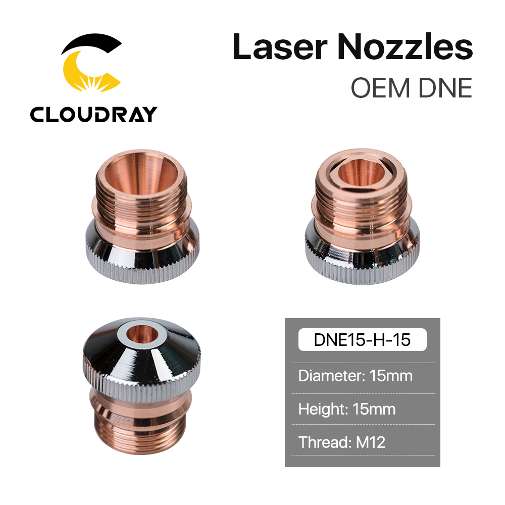 Cloudray DNE Laser Nozzles Chrome-plated Single/Double Layers H15 Caliber 0.8-4.0mm For DNE Fiber Laser Cutting Head