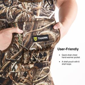 Image 4 - TideWe Hunting Fishing Chest Waders for Men Women Realtree MAX5 Camo with 600G Insulation Waterproof Cleated Neoprene Bootfoot