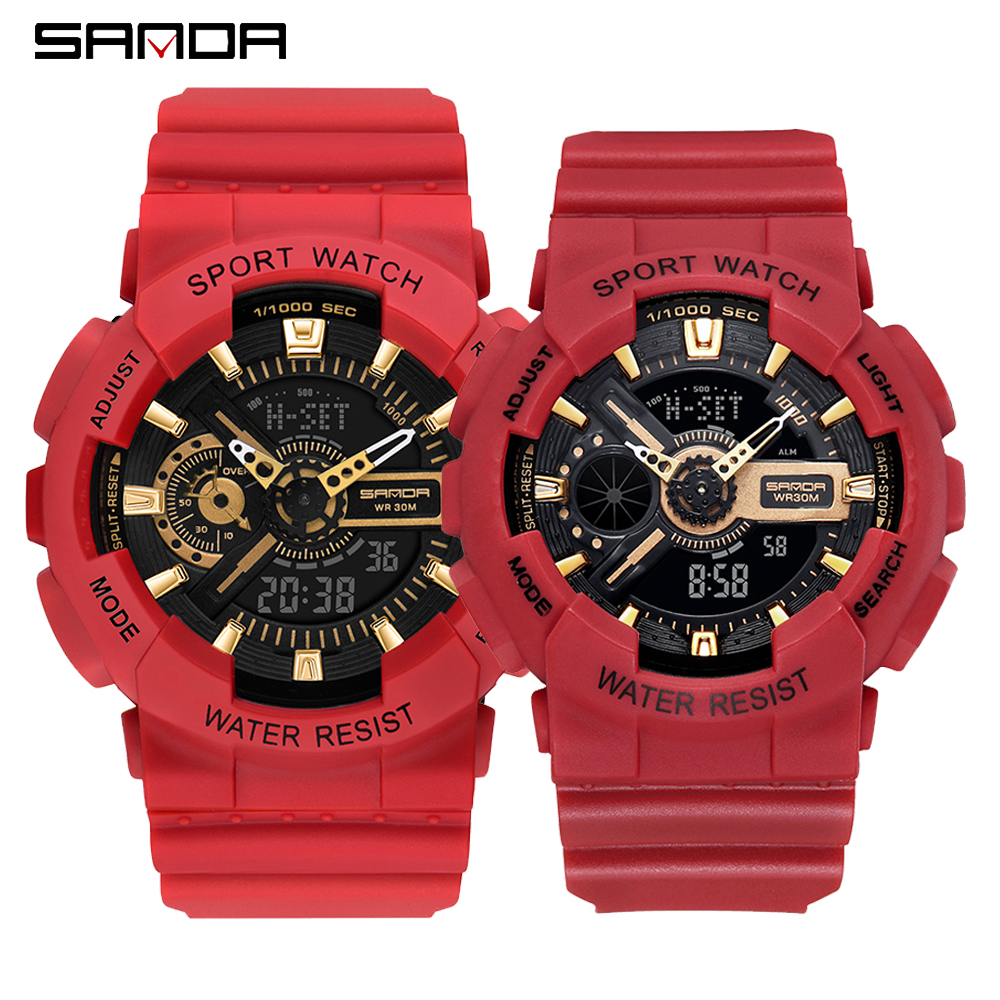 2020 SANDA Military Men's Watch Top Brand Luxury Waterproof Sport Wristwatch Fashion Quartz Clock Couple Watch relogio masculino 4