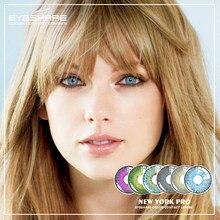 EYESHARE-lentes de contacto para Cosplay, 1 par (2 uds), nuevas, de moda, Color Nueva York, suaves