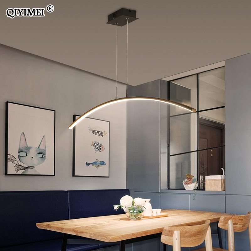 Remote control Modern LED Pendant Lights For study Kitchen Dining Living Room Cord Hanging Lustre Indoor Lamps Input AC90-260V 4
