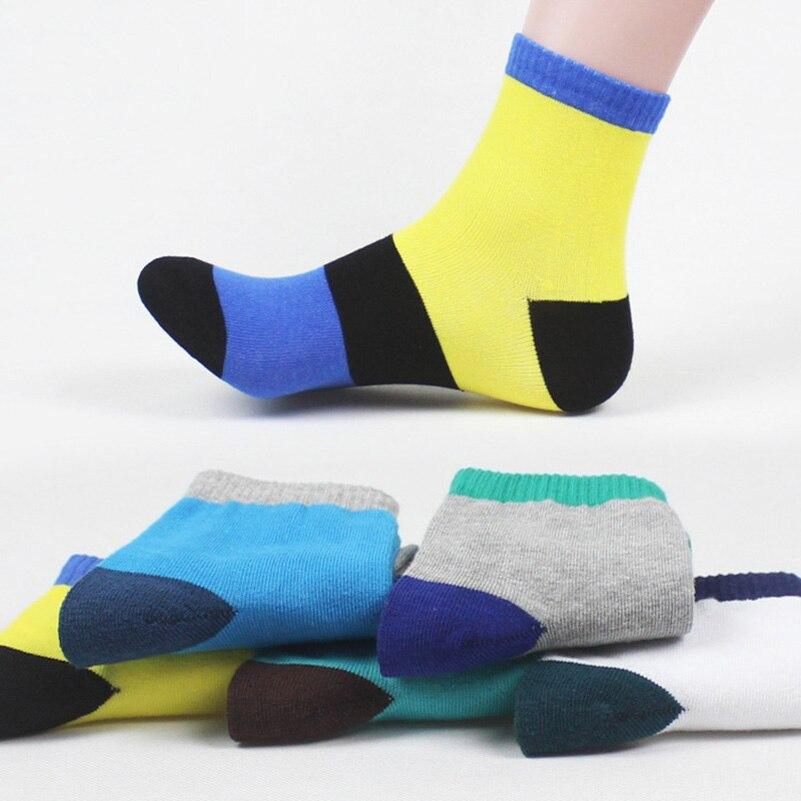 Urgot 5 Pairs Men Short Socks Patchwork Striped Creative Men Sock Suit For All Season High Quality Cotton Meias Calcetines Socks