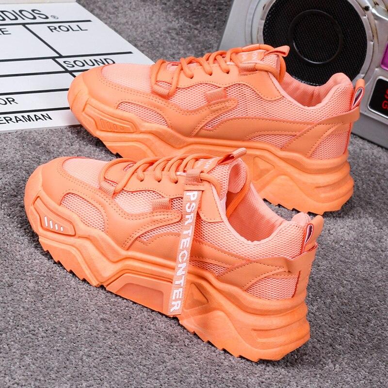 Женские кроссовки ярких цветов, модные удобные повседневные сетчатые кроссовки Ulzzang|Кроссовки и кеды|   | АлиЭкспресс