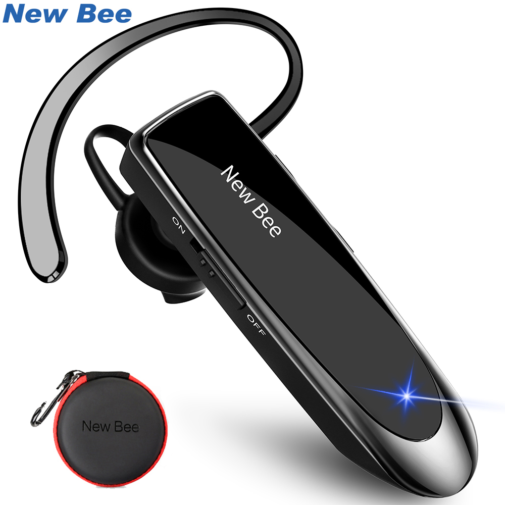 New Bee Hand-free Wireless Bluetooth Earphone Earpiece Mini Bluetooth Headset Headphone With Mic 22H Music For IPhone Xiaomi