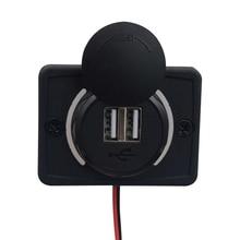 2-USB Charging Port For Boat Car Bus Caravan Camper 12-24v 3.1A Socket Safe Sets